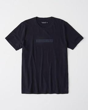 アバクロ メンズ グラフィックTシャツ サイズM NAVY