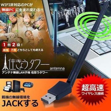 高速無線 外部アンテナ 無線LAN 子機 (USBアダプター)