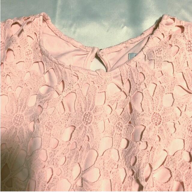 送料無料 神戸レタス 総レース ブラウス mサイズ ピンク色 < ブランドの