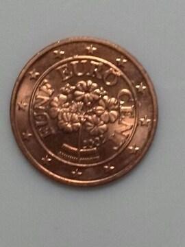 オーストリア 5ユーロ・セント硬貨 2002年銘 流通品