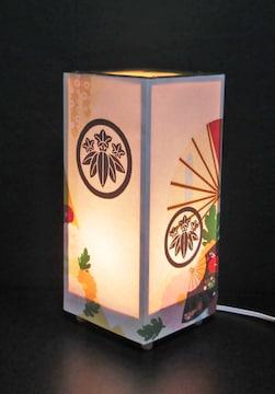 LED電球色/家紋の宿り木《丸に笹竜胆》神秘な灯りの安らぎを!!