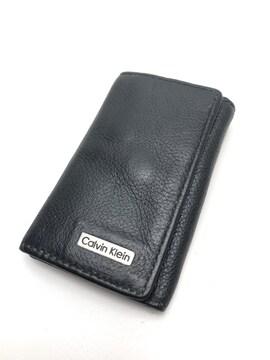 D266美品★カルバンクライン キーケース 6連 ブラック 本革