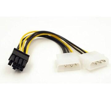 IDE 用電源コネクタ → PCI-E 電源コネクタ
