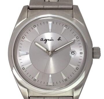 正規アニエスベー時計メンズ腕時計ウォッチクォーツシルバ