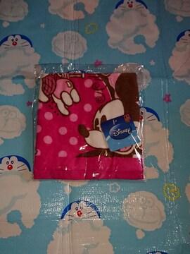 ピンクのディズニータオル ミッキーとミニー可愛いタオル