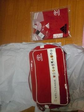 なでしこグッズトヨタ当選品エナメル鞄&ユニホーム非売品