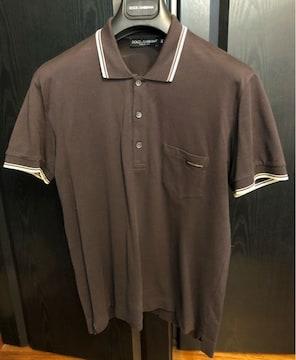 美品ドルチェ&ガッバーナD&Gブラウン46ポロシャツ半袖t夏
