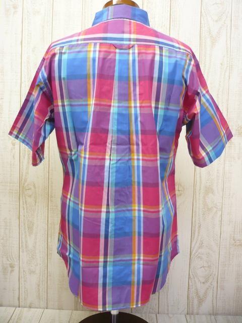 即決☆コロンビア 特価 チェック柄半袖シャツ PNK/XL 新品 < 男性ファッションの