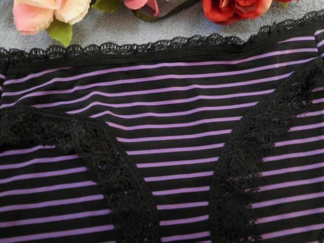 """▼""""◆.PinkyAngel^-^紫ボーダー♪薄ピタショーツ.◆""""▼ < 女性ファッションの"""