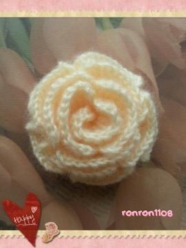 ハンドメイド/手編み♪毛糸のお花モチーフ 179