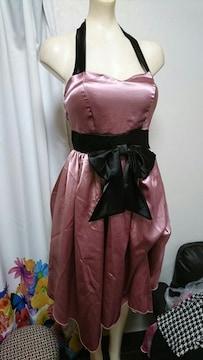 ホルターサテン ワンピース・ナイトドレス