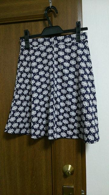 H&M 柄 フレアースカート < ブランドの