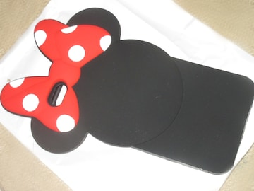 未使用☆ミニーマウス*リボンiPhone plus用ケース*シリコン