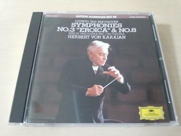 CD「ベートーヴェン 交響曲第3番 英雄 & 第8番 カラヤン」★