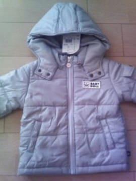 新品フード付中綿ジャケット100グレー☆ベビードールBABYDOLLベビド