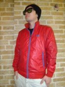 【NIKE】袖ゴツナイキデザインナイロンジャケット赤L♪ビンテージ風車