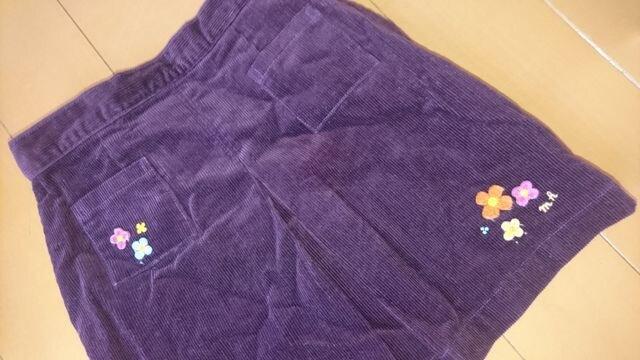 女の子 秋冬スカート ミキハウス サイズ120 送料無料 < ブランドの