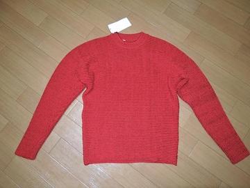 新品ミスターハリウッドN.HOOLYWOODレーヨンニット38赤セーター
