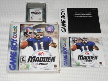 GB★MADDEN NFL 2002 海外版(国内本体動作可能) 端子清掃済み