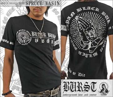 メール便送料無料【MAD BURST JAPAN】70532Tシャツ黒銀XL