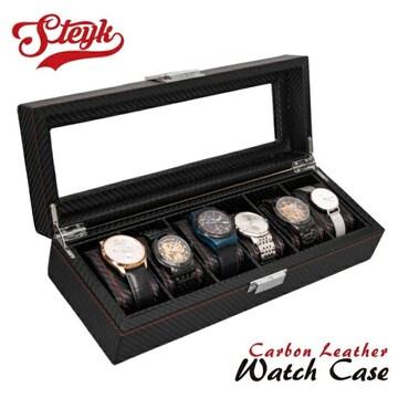 カーボンレザー 時計ケース 6本収納 新品