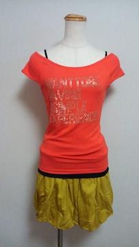 ミッシェルクランのオレンジのTシャツ(20)