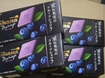 Ghanaフルーツショコラ ブルベリー4箱