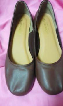 ペタンコ靴ブラウンLLサイズ