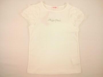 値下げセールメゾピアノシンプルベーシック定番の豪華レースパフスリーブ半袖Tシャツ