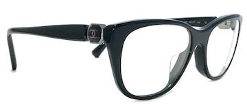 正規シャネル眼鏡メガネフレームめがねダークグリーンココ