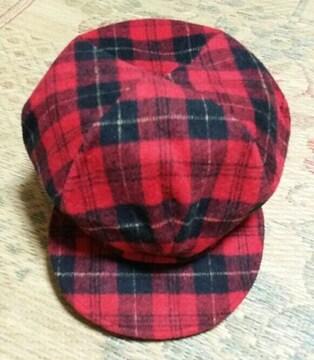 ☆新品未使用☆チェック柄  帽子