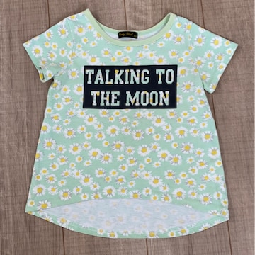 女の子半袖Tシャツ100花柄