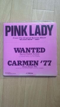 非売品EPシングル!ピンクレディー「WANTED/CARMEN'77」☆