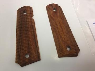 ガバメント 木製グリップ 45AUTOシタンフルチェッカー 新品