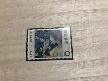 切手趣味週間☆1966年「蝶」1枚 送料63円