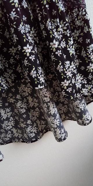 フィッシュテール花柄スカート S < 女性ファッションの