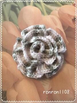 ハンドメイド/手編み♪毛糸のお花モチーフ 194