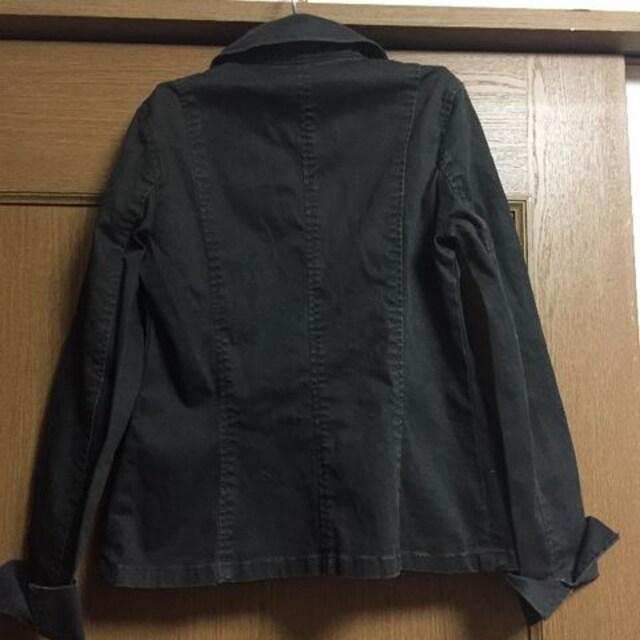 新品☆9号サイズMぐらい☆着やすい黒ミリタリージャケット < 女性ファッションの