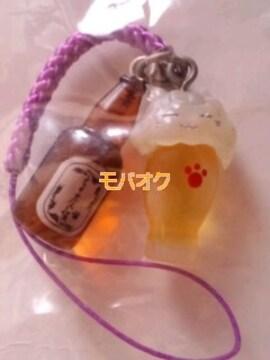 夏目友人帳*ニャンコ先生*ビール*ストラップ