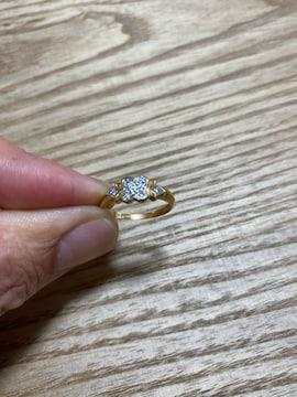 K18pt900 コンビ指輪 007刻印 中古品