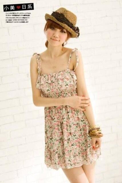 夏新作 ピンク 花柄 ワンピース Mサイズ   < 女性ファッションの