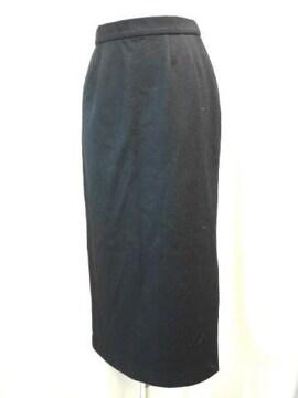 【アバハウス】スリット入り黒ロングスカートです