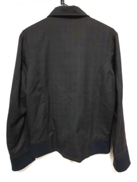 リーツテイラーザズー ブルゾン38 メンズ 黒×ボルドー×ライトグレー < 男性ファッションの