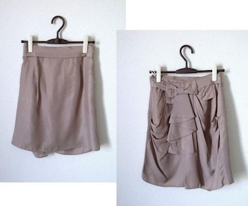 ディアプリンセス■リボン グレージュ キュプラ スカート