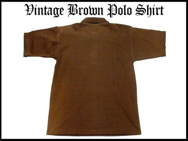 90代オリジナルロゴポロシャツベーシックスタイルS < 男性ファッションの
