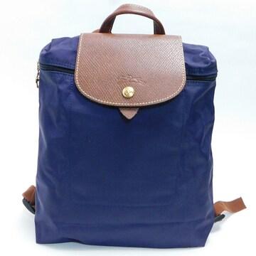 超美品Longchampロンシャン リュック  濃紫 良品 正規品