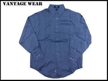 新 【ブル色-XS】 Vantage 長袖シャツ アメリカ輸入品