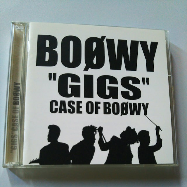 CD2枚組BOOWY GIGS CASE OF BOOWY  < タレントグッズの