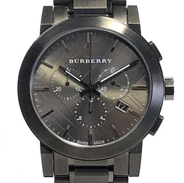 新品同様正規バーバリー時計クロノグラフBU9354メンズウ