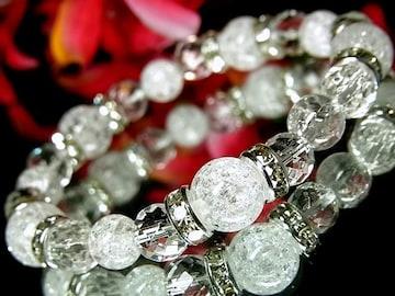 クラック爆裂水晶10ミリ8ミリ§64面ダイヤカット水晶8ミリ§銀ロンデル